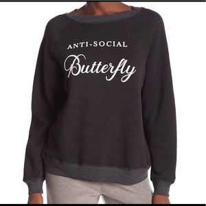 🦋Wildfox NWOT Anti Social Butterfly Sweatshirt🦋
